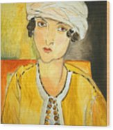 Matisse's Lorette With Turban And Yellow Jacket Wood Print
