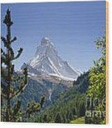 Matterhorn In Zermatt Wood Print