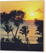 Maui Sunset Wood Print