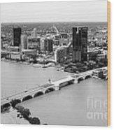 Maumee River Toledo Ohio Wood Print