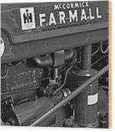 Mc Cormick Farmall Super C Wood Print