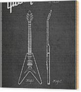 Mccarty Gibson Electric Guitar Patent Drawing From 1958 - Dark Wood Print