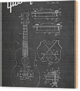 Mccarty Gibson Stringed Instrument Patent Drawing From 1969 - Dark Wood Print