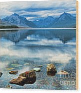 Mcdonald Lake Wood Print