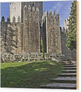Medieval Castle Keep Wood Print