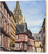 Medieval Vannes France Wood Print