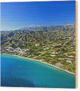 Mediterranean Sea From The Air Wood Print