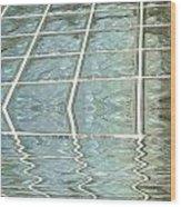 Melting Glass Wood Print