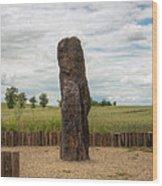 menhir Stone Shepherd Wood Print