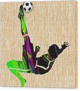 Womans Soccer Wood Print