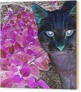 Meow 2 Wood Print