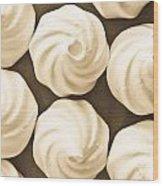 Meringue Nests Wood Print