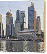 Merlion Park In Singapore 3 Wood Print