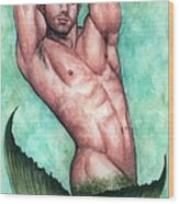 Merman Wood Print