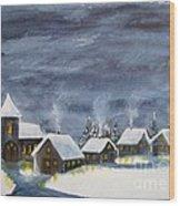 Merry Christmas 1  Wood Print