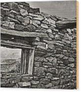 Mesa View Wood Print