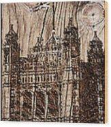 Metal England Castle Wood Print