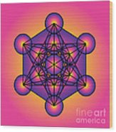 Metatron's Cube Wood Print