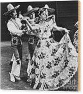 Mexican Folk Dance Wood Print