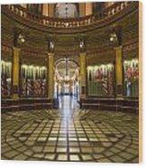 Michigan Capitol Flag Room Wood Print
