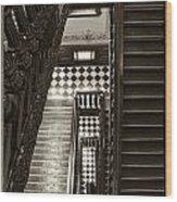 Michigan Capitol Stairwell Wood Print