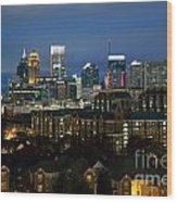 Midtown Atlanta Skyline At Dusk Wood Print