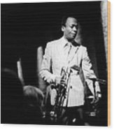 Miles Davis At The Penthouse Wood Print