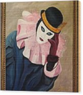 Mime With Thoughts Wood Print