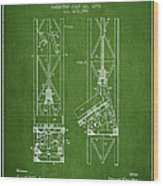 Mine Elevator Patent From 1892 - Green Wood Print