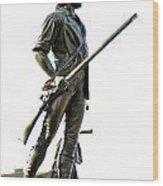 Minute Man Statue Concord Ma Wood Print