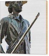 Minute Man Statue Concord Massachusetts Wood Print by Staci Bigelow