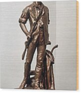 Minutemen Soldier Wood Print
