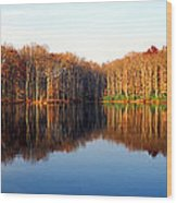 Mirror Lake Panoramic Wood Print