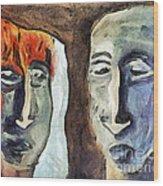 Mirroring - Retrospect Wood Print