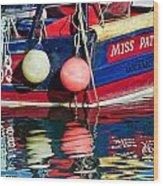 Miss Pattie At Lyme Regis Harbour  Wood Print