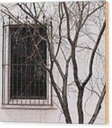 Mission Church Window Wood Print