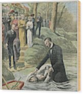 Missionaries Of The Seventh  Day Wood Print