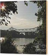 Missouri River Sunrise  Wood Print