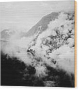 Mist In Mountain Himalayas Wood Print