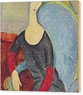 Mme Hebuterne In A Blue Chair Wood Print