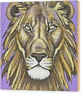 Mod Male Lion Wood Print