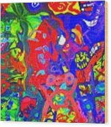 Modern Abstract Painting Original Canvas Art Young Life By Zee Clark Wood Print