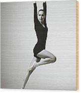 Modern Dancer Wood Print