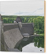 Mohne Dam Wide View Wood Print