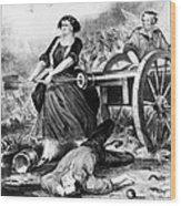 Molly Pitcher (c1754-1832) Wood Print