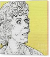 Momma On Yellow Wood Print