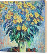 Monet's Jerusalem  Artichoke Flowers Wood Print