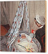 Monet's The Cradle -- Camille With Artist's Son Jean Wood Print