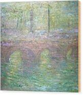 Monet's Waterloo Bridge In London At Dusk Wood Print