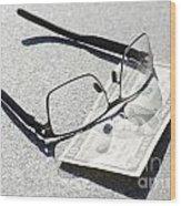 Money And Eyeglasses Wood Print